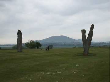 The Standing Stones of Lundie on Lundin Ladies Golf Club ( Photo by Michael Murray )